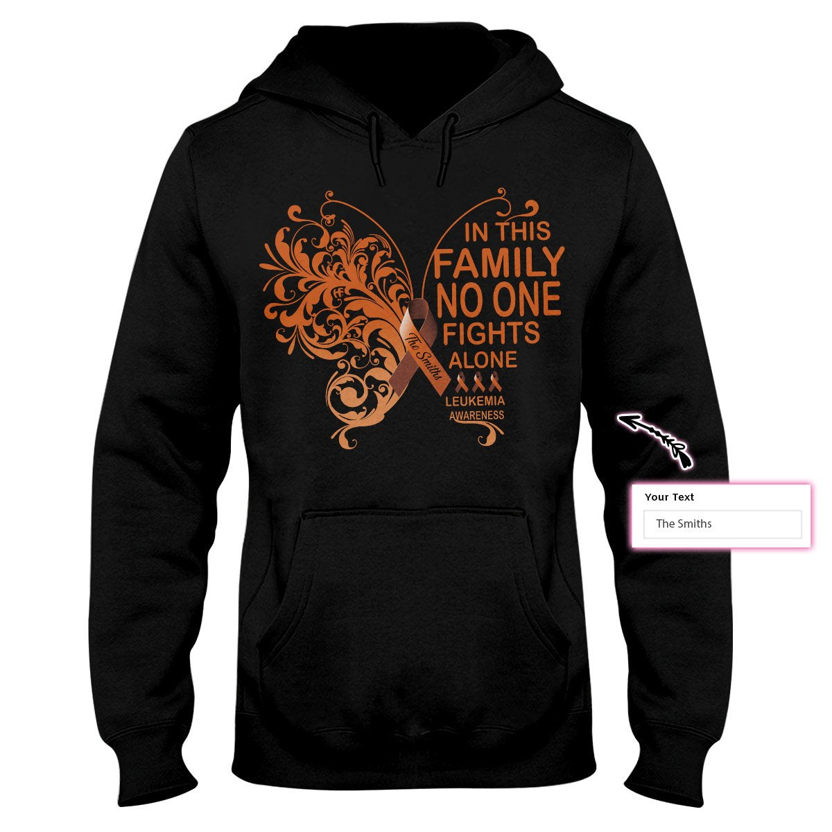 In This Family No One Fight Alone Leukemia Custom Hoodie