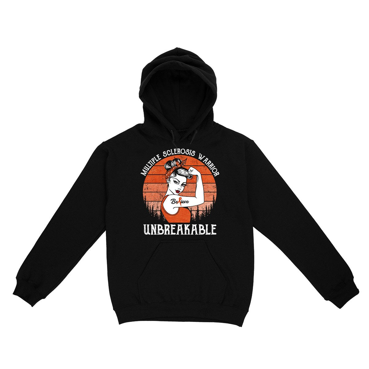 Retro Unbreakable MS Warrior Hoodie, MS Awareness Shirt, Multiple Sclerosis Awareness Gifts