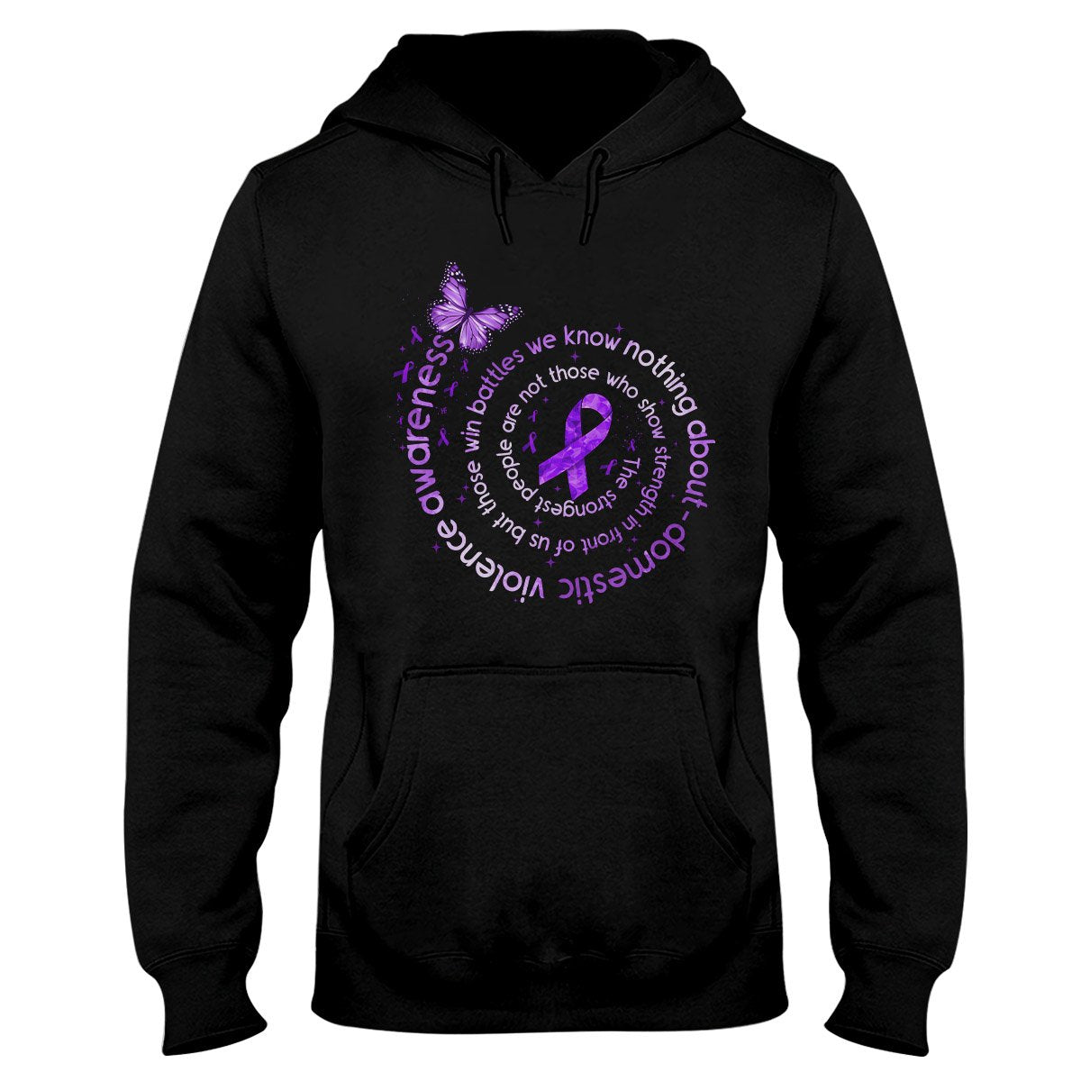 The Strongest People Domestic Violence Awareness Hoodie