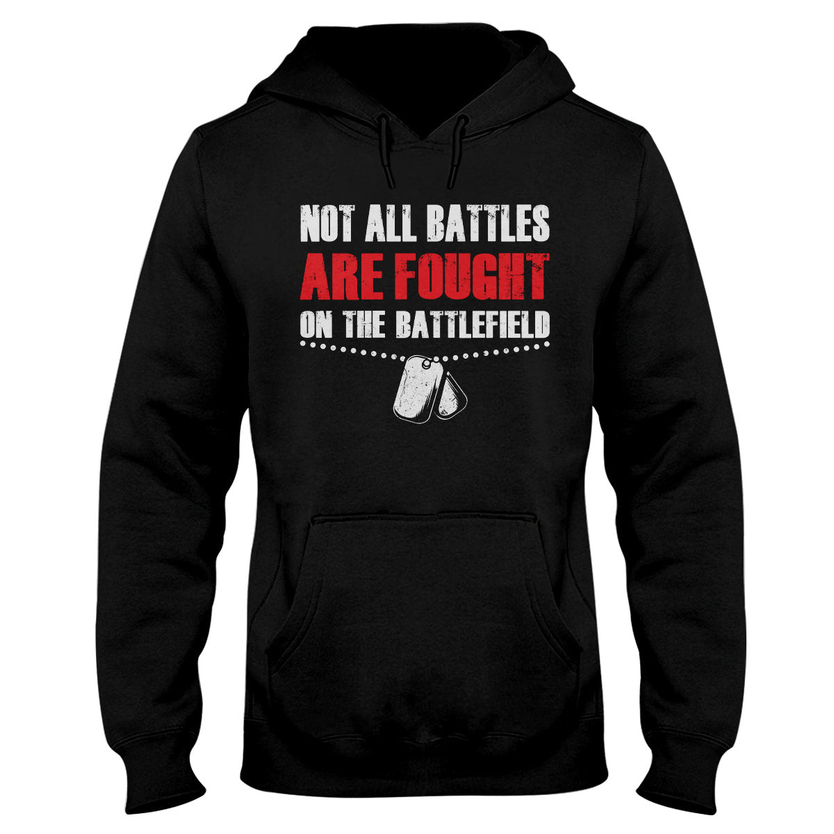Not All Battles Are Fought On The Battlefield Chain PTSD Awareness Hoodie
