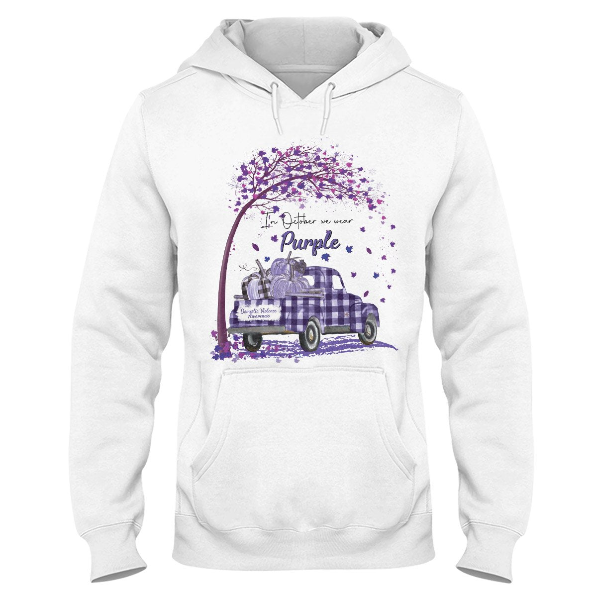Domestic Violence Awareness Month October Hoodie