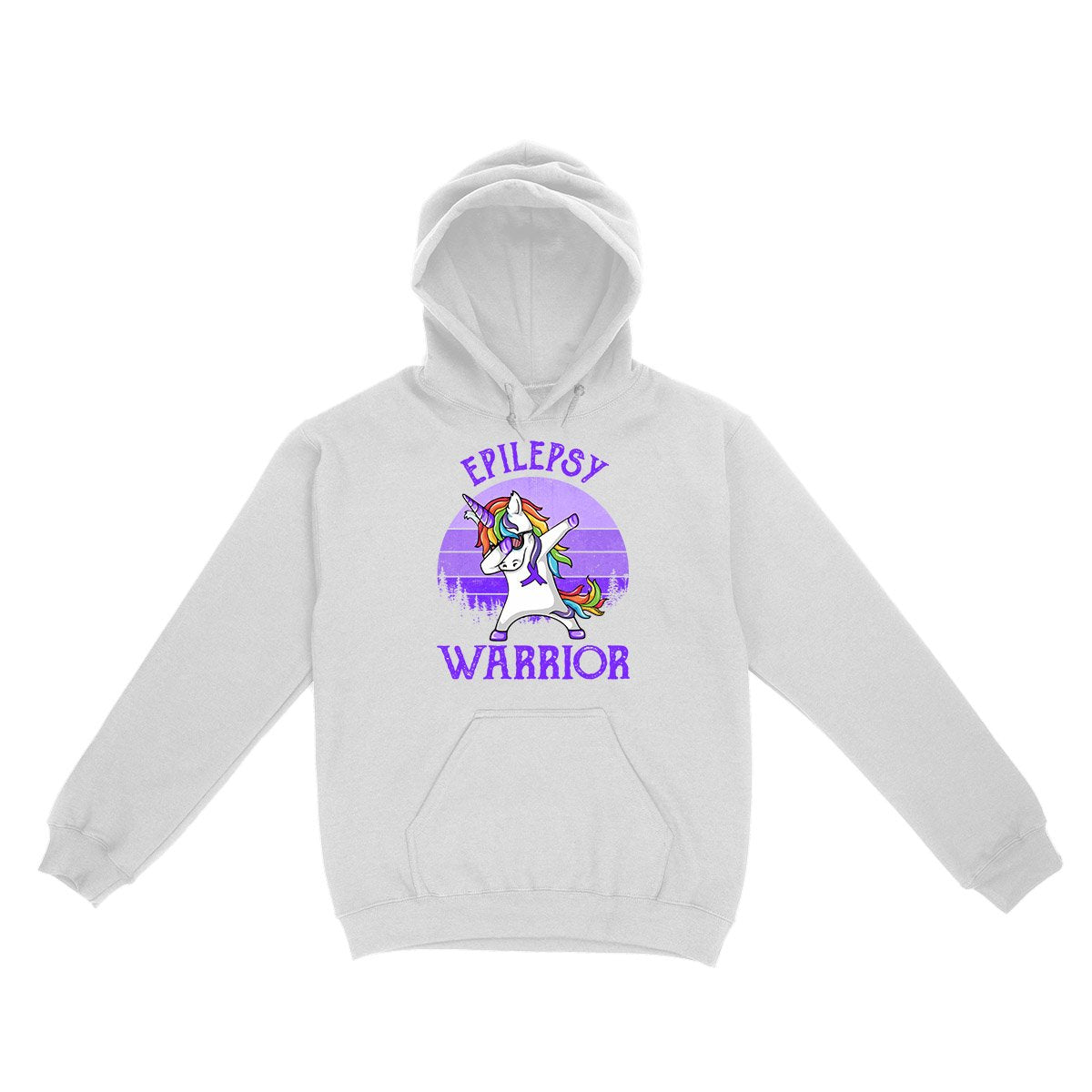 Epilepsy Awareness Warrior Unicorn Retro Hoodie