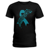 Butterfly With Feather Cervical Cancer Awareness Ladies T-shirt