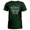Strong Warrior Lymphoma Awareness Ladies T-shirt