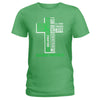 Cross Scoliosis Awareness Ladies T-shirt