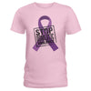 Stop Domestic Violence Ladies T-shirt