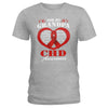 CHD Awareness For My Grandpa Ladies T-shirt