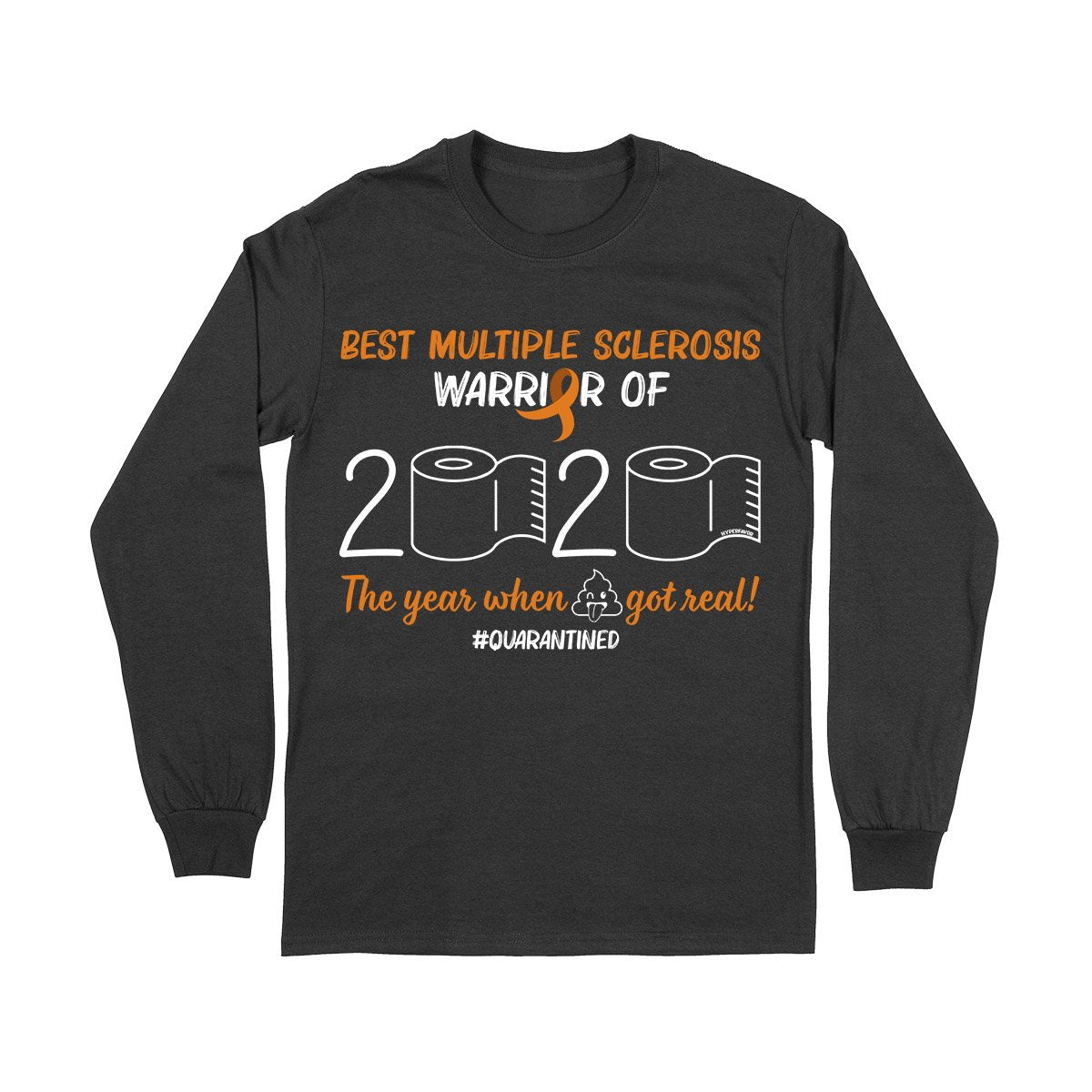 Best MS Warrior Long Sleeve T-shirt, MS Awareness Month Shirt, Multiple Sclerosis Awareness Gifts