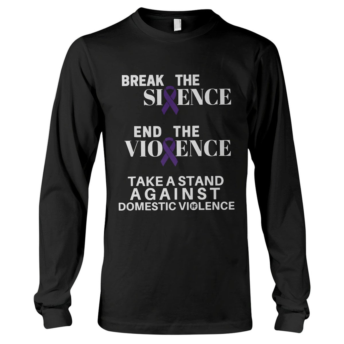 Domestic Violence Awareness Break The Silence Long Sleeve T-Shirt