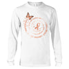 The Strongest People Uterine Cancer Awareness Long Sleeve T-Shirt