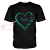 Ovarian Cancer Awareness Heart Custom Men V-neck T-shirt