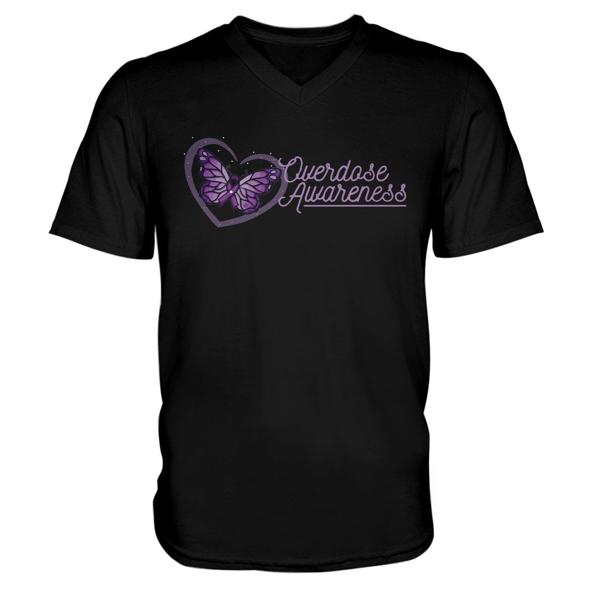 Overdose Awareness Unisex V-neck T-shirt