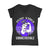 Epilepsy Awareness Warrior Unbreakable Retro Men V-neck T-shirt