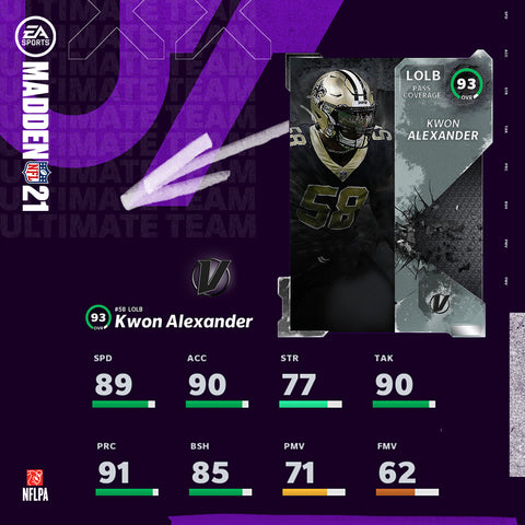 Kwon Alexander - 93 Overall