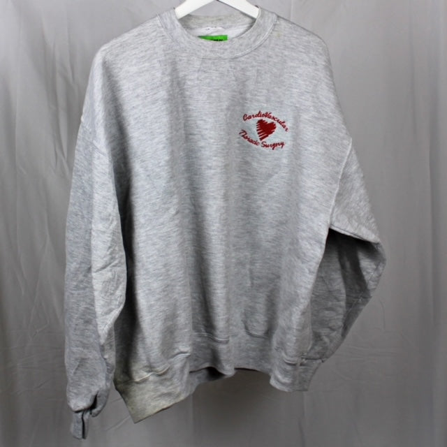 Grey Heart Crewneck L