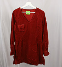 Load image into Gallery viewer, Red Velvet Shirt L