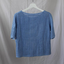 Load image into Gallery viewer, Blue Knitted T-Shirt L