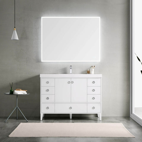Lyon 48 Inch Vanity – Single Sink (Vanity Only) Matte White