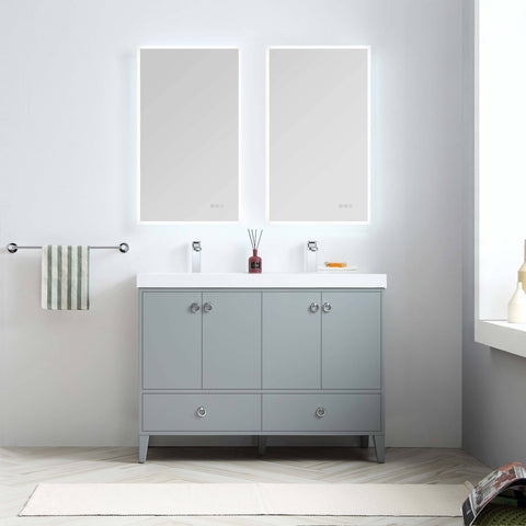 Lyon 48 Inch Vanity – Double Sinks (Vanity Only) Matte Grey
