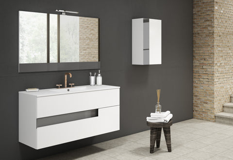 "Vision Vanity 40"" White and Grey"