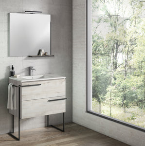 "Scala 32"" Vanity - Abedul  with Legs and Towel Bar"