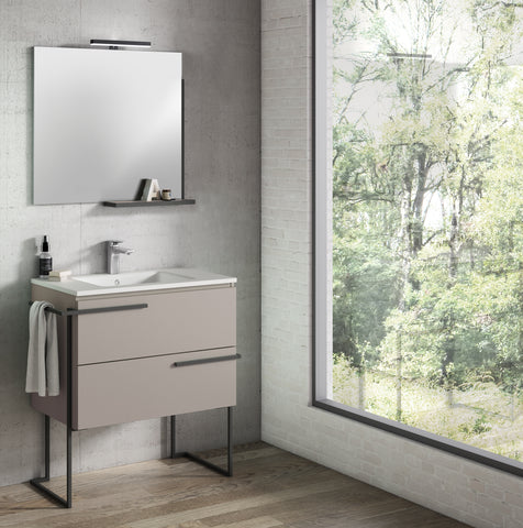 "Scala 32"" Vanity - Quarzo with Legs and Towel Bar"