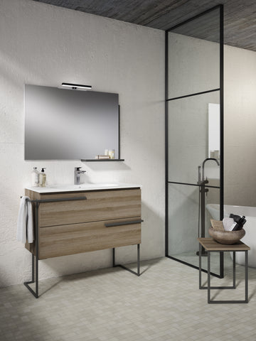 "Scala 40"" Vanity - Terra with Legs and Towel Bar"