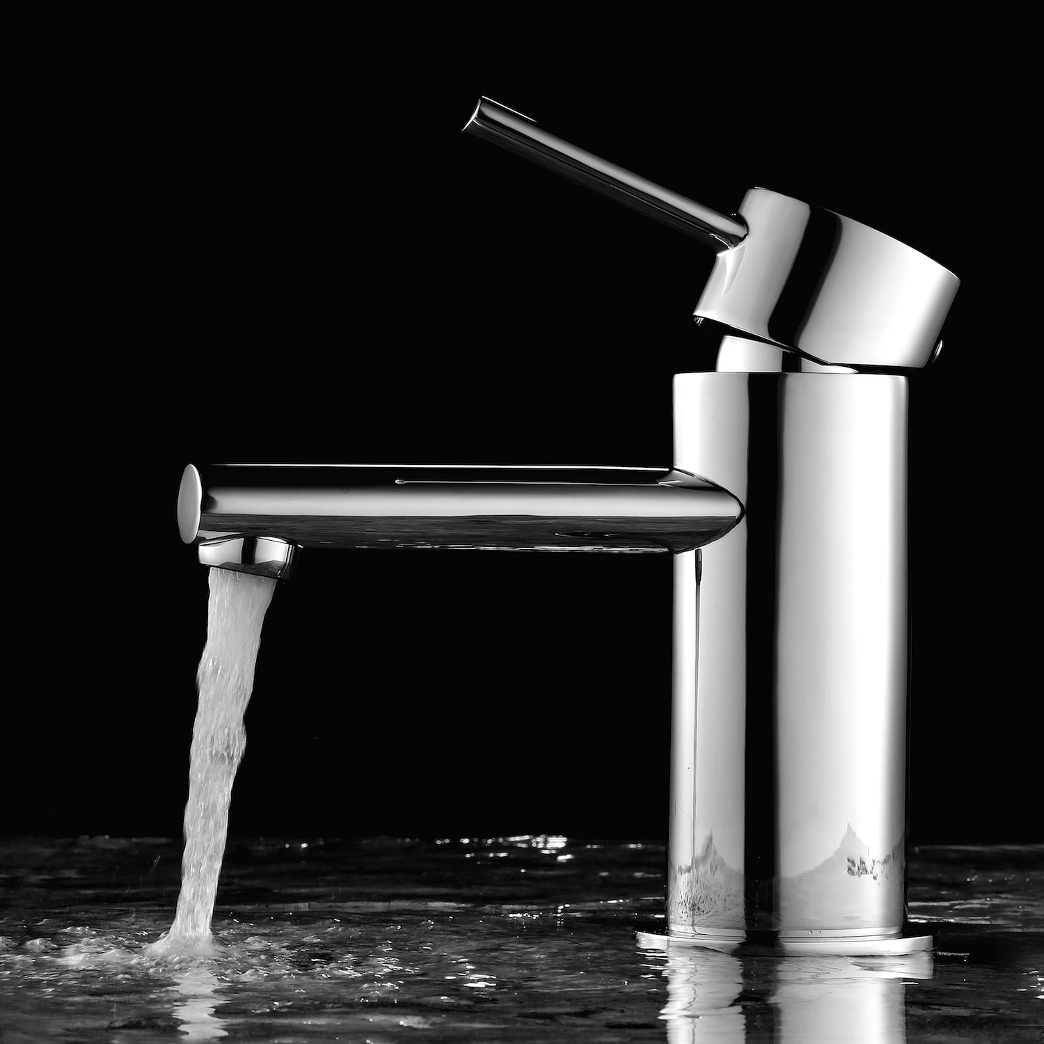 Simple Single Handle Lavatory Faucet Chrome