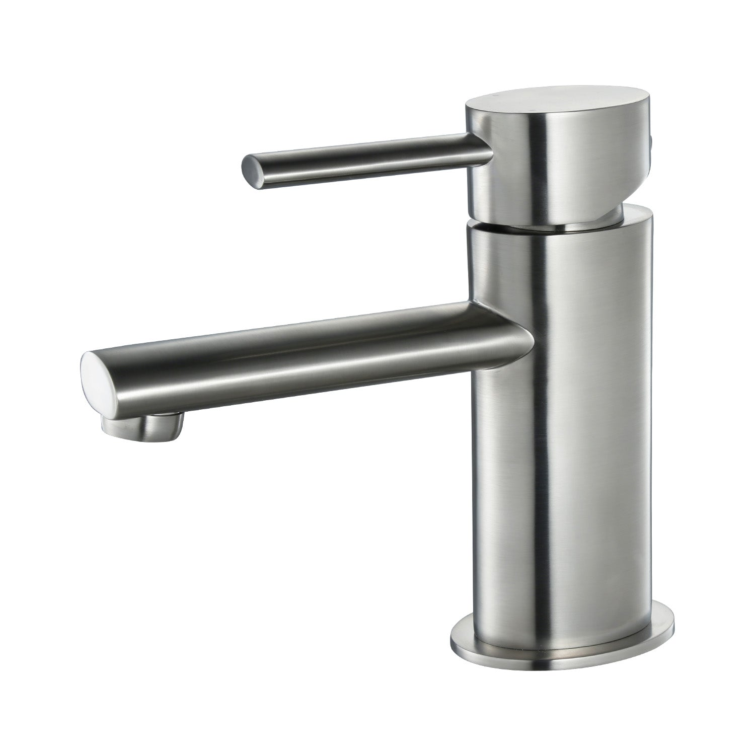 Simple Single Handle Lavatory Faucet Brush Nickle