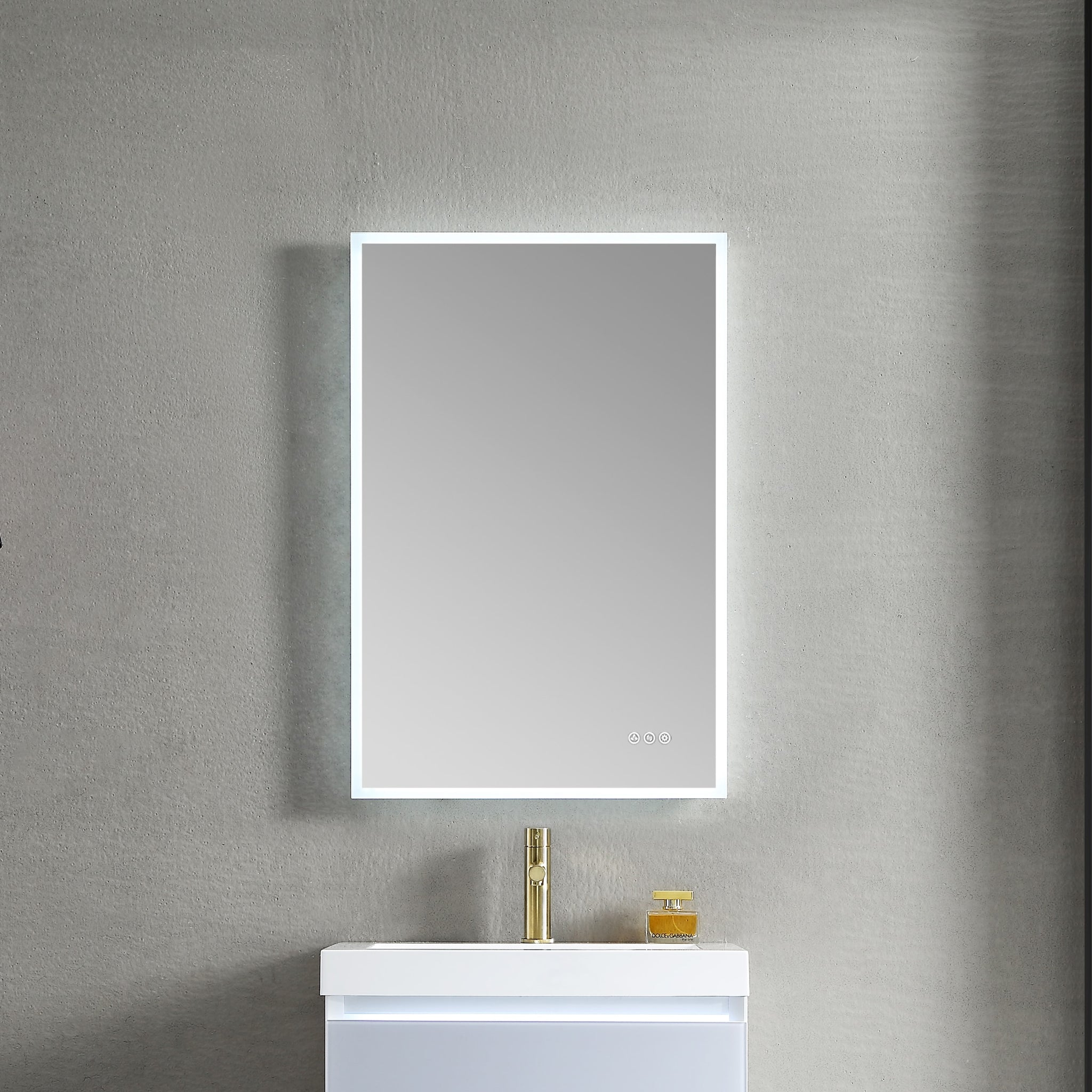 Beta 24″x36″ LED Mirror with Frosted Sides