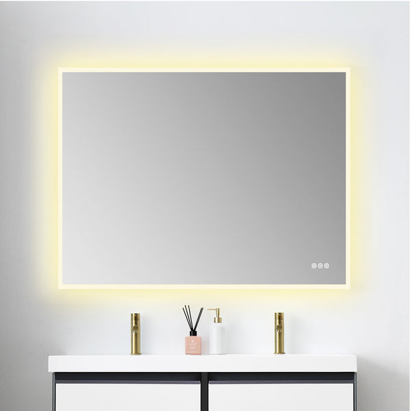 Beta 48″x36″ LED Mirror with Frosted Sides