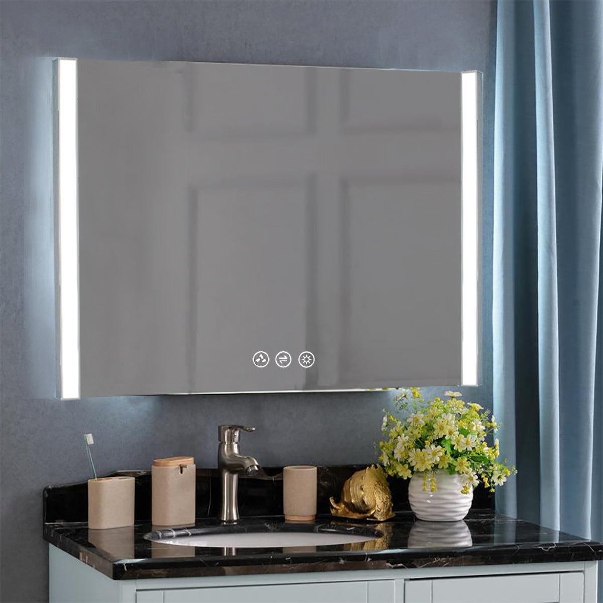 Binary 48″ LED Mirror - Chrome