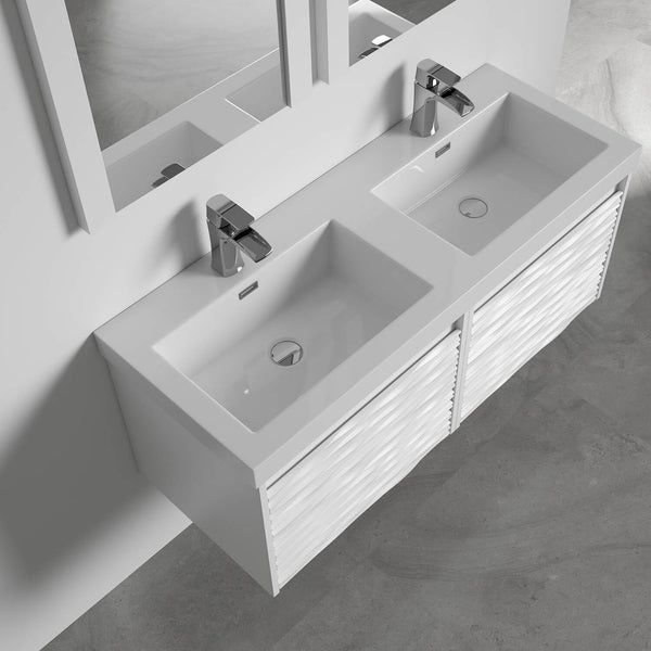 Paris 48 Inch Vanity – Glossy White (Vanity Only)