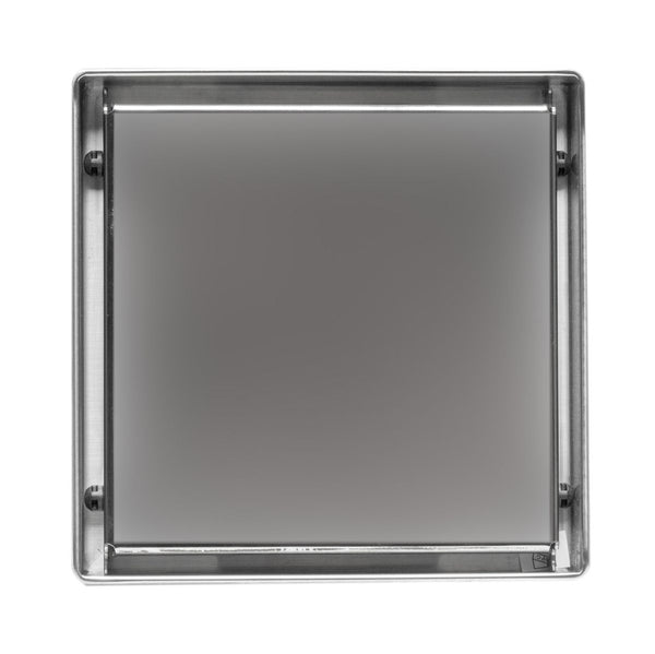 "ALFI brand 5""x5"" Square Polished Stainless Steel Shower Drain w/ Solid Cover"