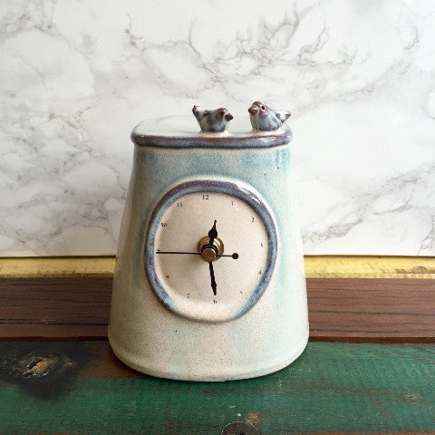 Bird Mantel Clock by Julia Smith Ceramics