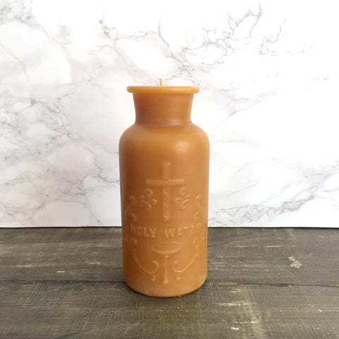 Holy Water Beeswax Candle by Pollen Arts