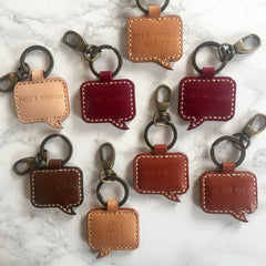 Leather Keychains by Evamo Leatheramics