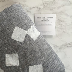 Linen throws by Caroline Z Hurley