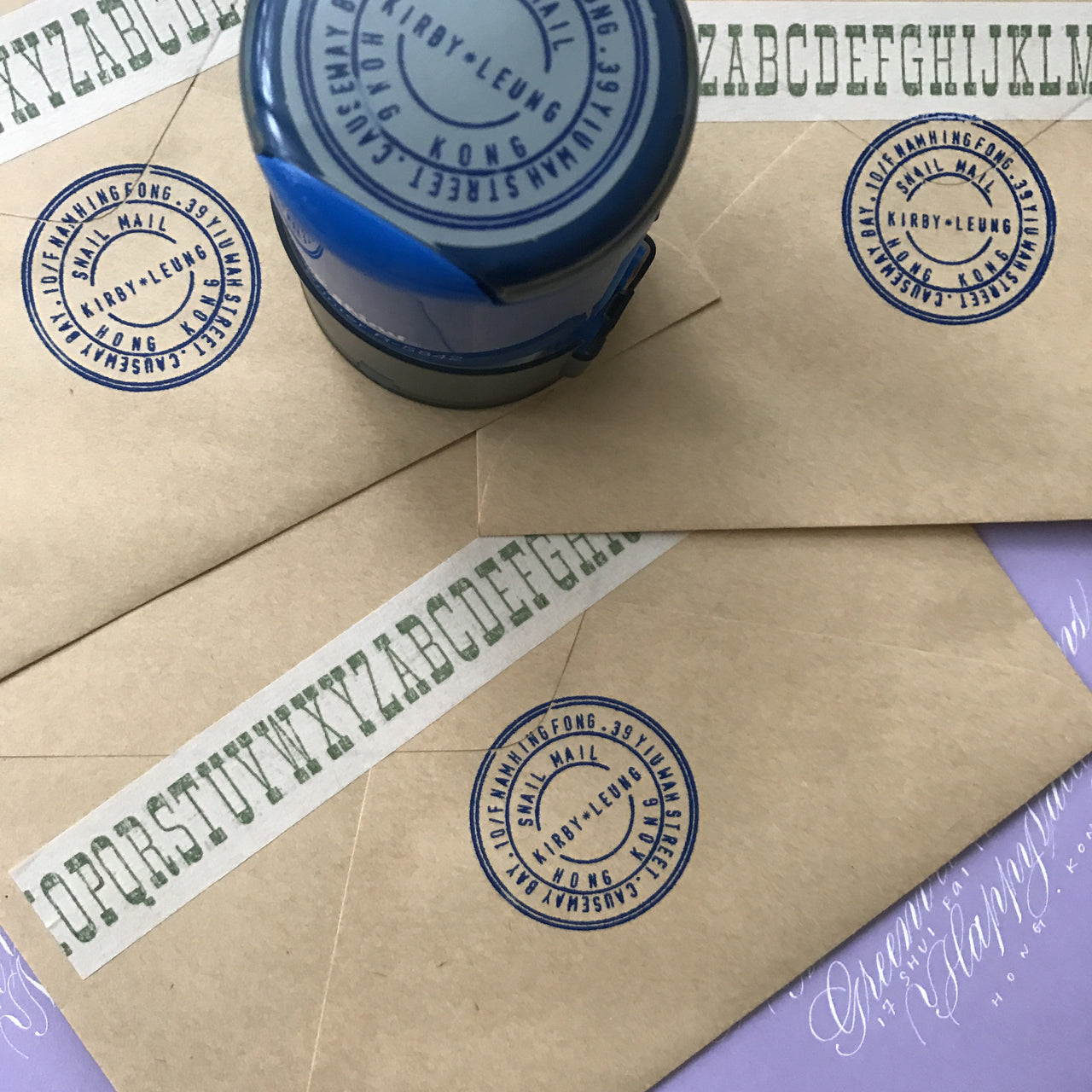 Circular Shiny DIY Stamps
