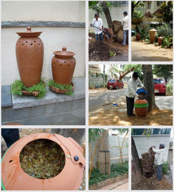 Early prototypes of Daily Dump leaf composter