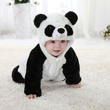 Baby Panda | Animal Onesie Hooded Zipper Romper | Jumpsuit Outfit Costume - Babymodelz.com