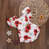 Baby Girl Clothes | Summer Onesies | Printed Rose Flower | Jumpsuit Baby Romper - Babymodelz.com