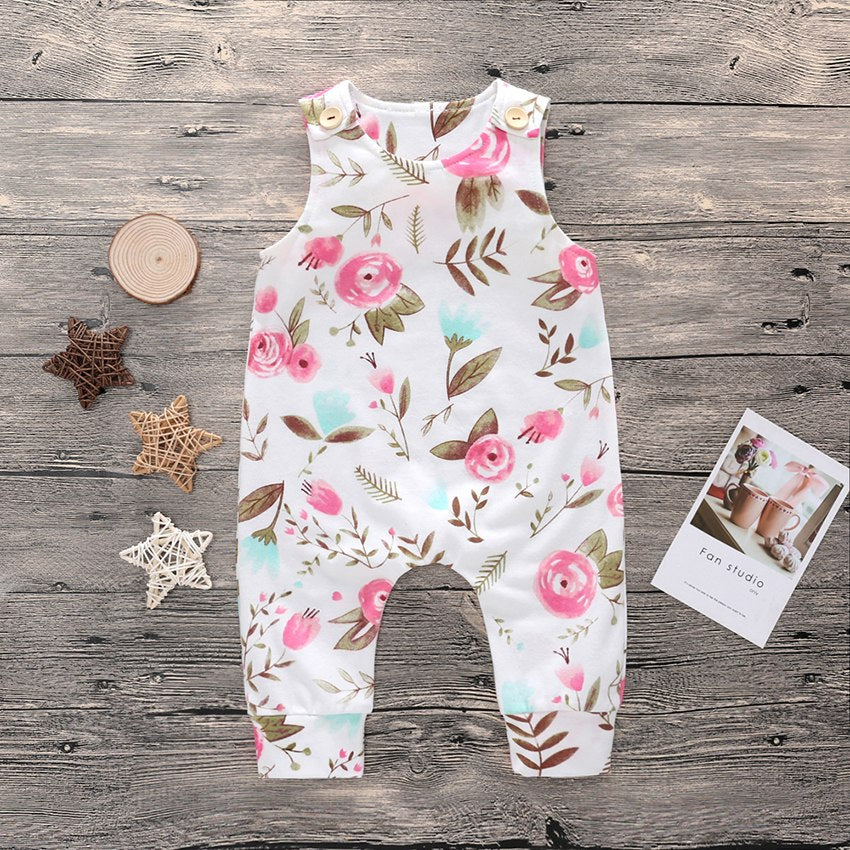 Baby Romper | Onesies Flowers Print | Jumpsuit Casual Outfits - Babymodelz.com