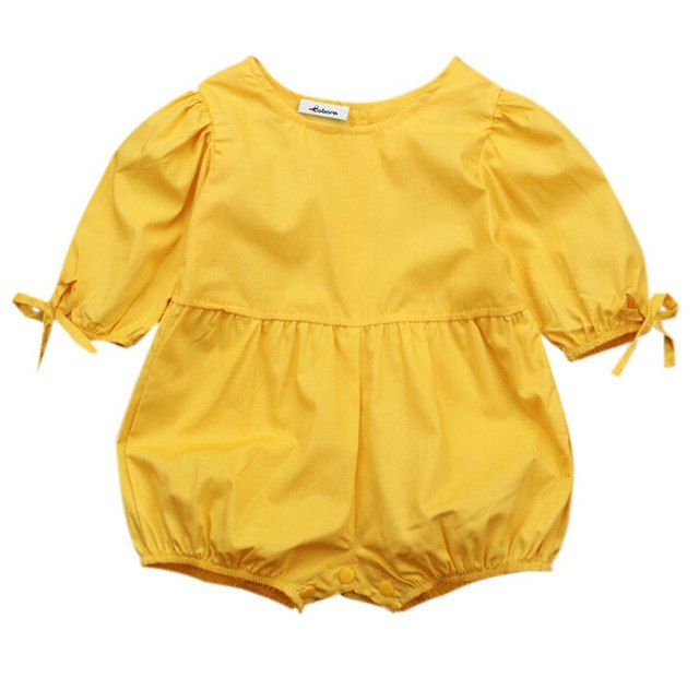 Baby Girls | Rompers | Puff Sleeves Onesies - Babymodelz.com