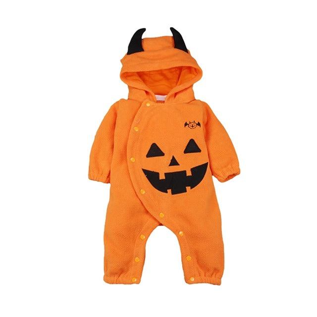 Baby Onesies | Halloween Pumpkin Hooded | Kid Romper | Cartoon Cute Children Clothes - Babymodelz.com