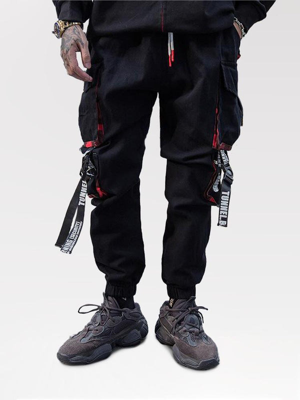 Pantalon Cargo Streetwear 'Warning Tunnel'