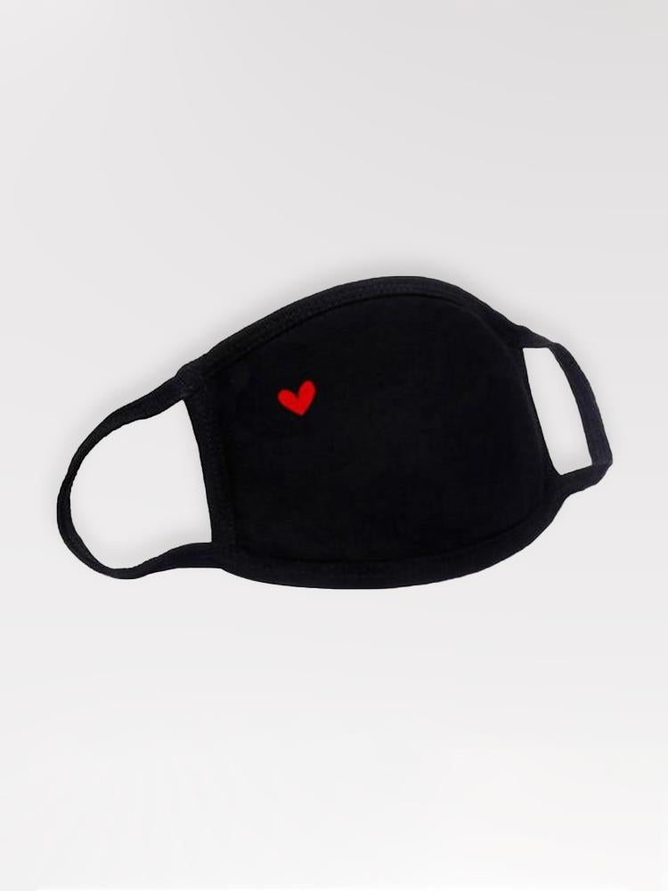 Masque Anti-Pollution Coeur Rouge