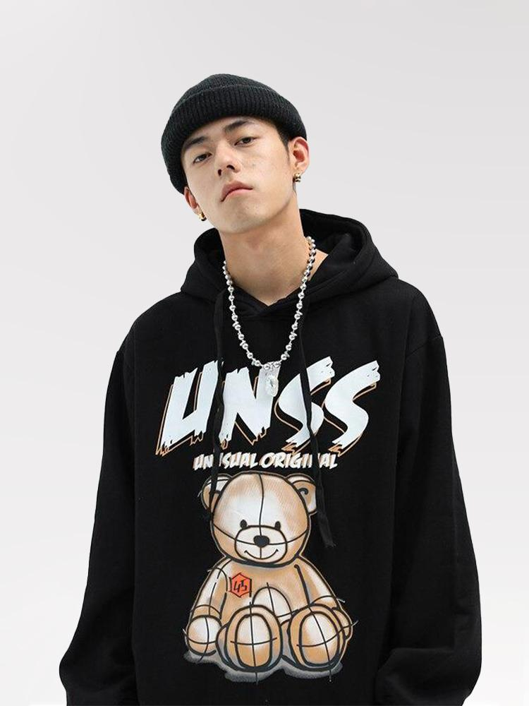 Pull Ourson Imprimé Streetwear 'UNSS'