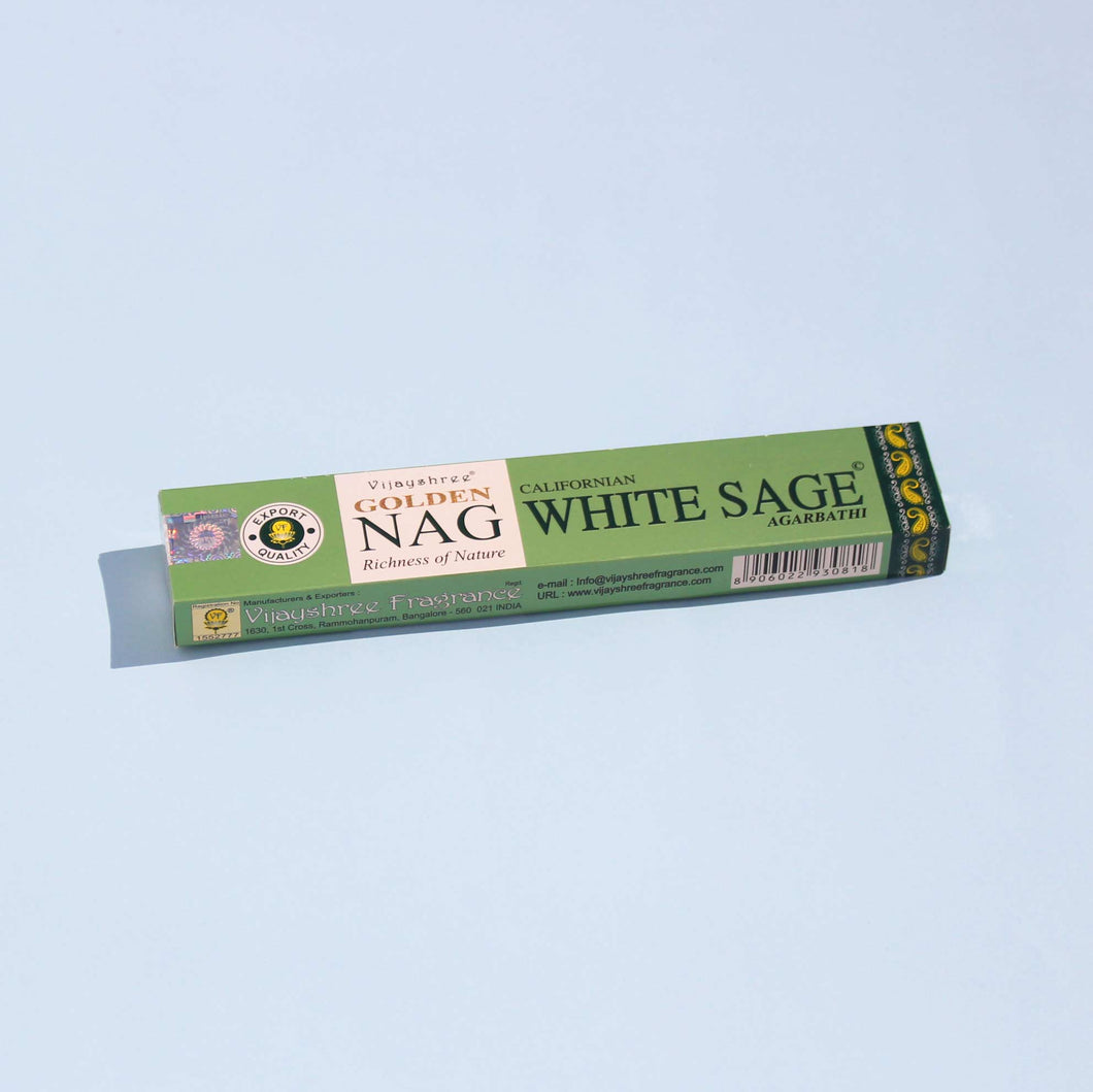 Incienso Golden Nag White Sage