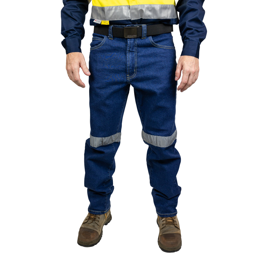 Stretch Denim Jeans with Reflective Tape (BT261) - Ball Tearer